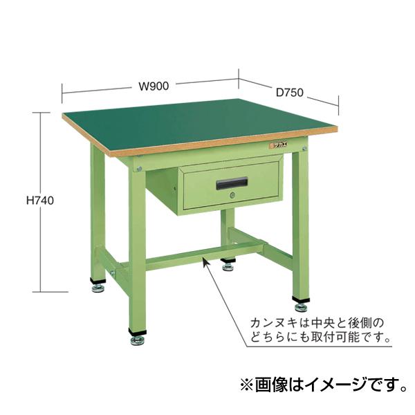 SAKAE(サカエ):中量作業台KTタイプ深型キャビネット付 KT-0975F1I