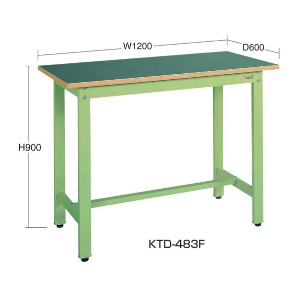 【代引不可】SAKAE(サカエ):中量立作業台KTDタイプ KTD-483F