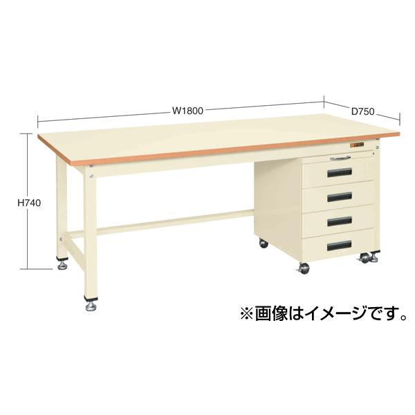 SAKAE(サカエ):中量作業台キャビネットワゴン付 KTS-187DI