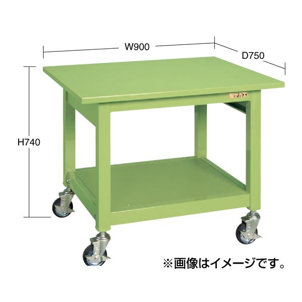 【代引不可】SAKAE(サカエ):中量作業台KBタイプ移動式 KBF-096