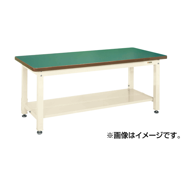 【代引不可】SAKAE(サカエ):重量作業台KWタイプ中板2枚付 KWF-128T1I