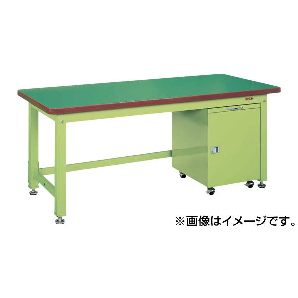 【代引不可】SAKAE(サカエ):重量作業台KWタイプ・キャビネットワゴン付 KWF-128F