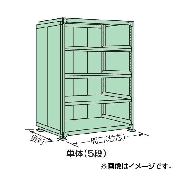 【代引不可】SAKAE(サカエ):中量棚PB型パネル付 PB-1525