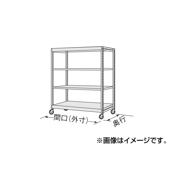 【代引不可】SAKAE(サカエ):中軽量キャスターラック NSR-8143WGK