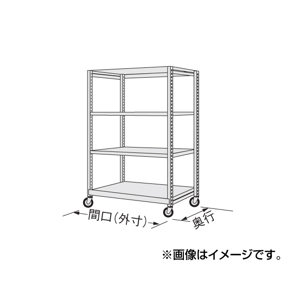 【代引不可】SAKAE(サカエ):中軽量キャスターラック NSR-9523WGK