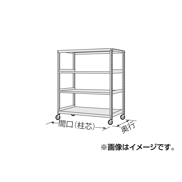SAKAE(サカエ):中量キャスターラック NKR-8564WGK