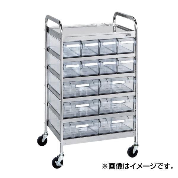 【代引不可】SAKAE(サカエ):CSワゴン透明ボックス付 CSE-10RSU