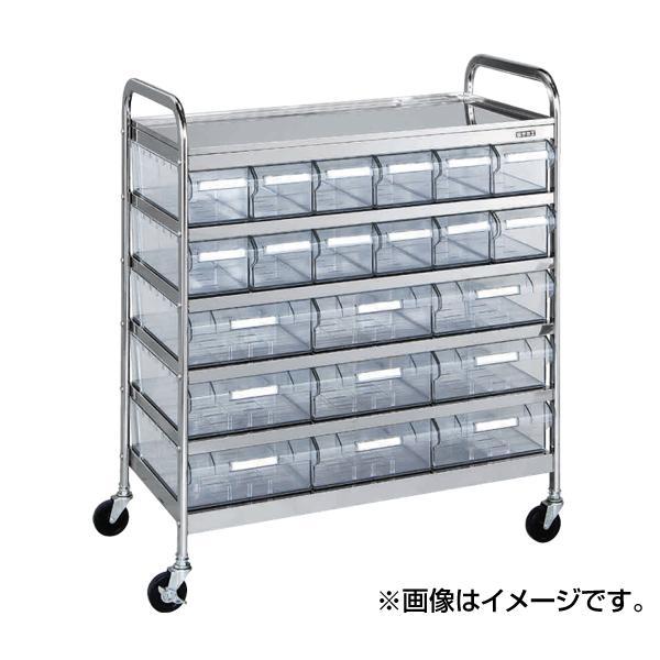 【代引不可】SAKAE(サカエ):CSワゴン透明ボックス付 CSG-15RSU