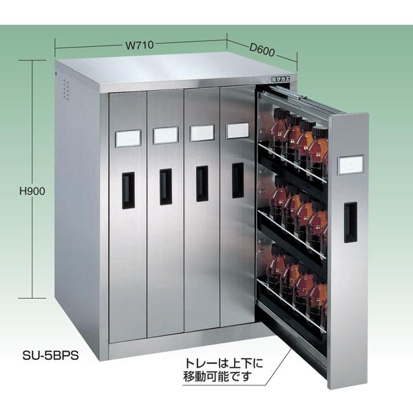 【代引不可】SAKAE(サカエ):ステンレス薬品保管庫 SU-5BPS