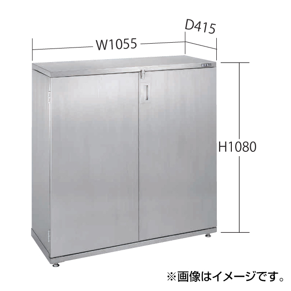 SAKAE(サカエ):ステンレス一斗缶保管庫 一斗缶・ペール間兼用タイプ・固定式 SU4-ITKNB