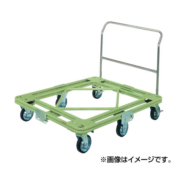 【代引不可】SAKAE(サカエ):自在移動回転台車 重量型 取手付タイプ RH-2TG