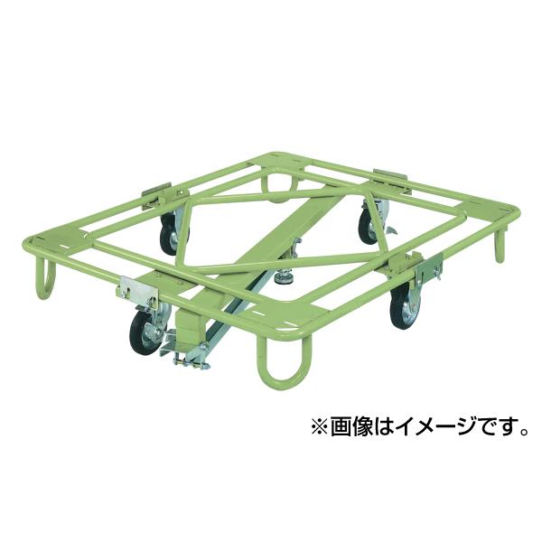 【代引不可】SAKAE(サカエ):自在移動回転台車 軽量型 センターベース付 RA-2KG