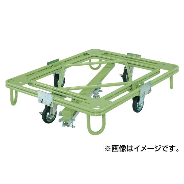 【代引不可】SAKAE(サカエ):自在移動回転台車 中重量型 センターベース付 RC-4KG