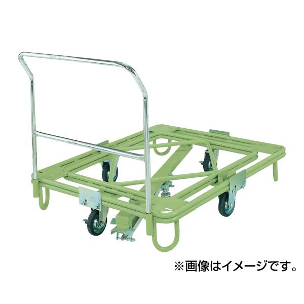【代引不可】SAKAE(サカエ):自在移動回転台車 中重量型 取手・センターベース付 RC-5FG