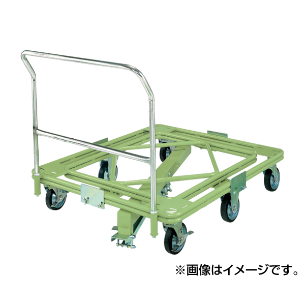 週間売れ筋 超重量型 RH-2FG:イチネンネット 取手・センターベース付 SAKAE(サカエ):自在移動回転台車-DIY・工具