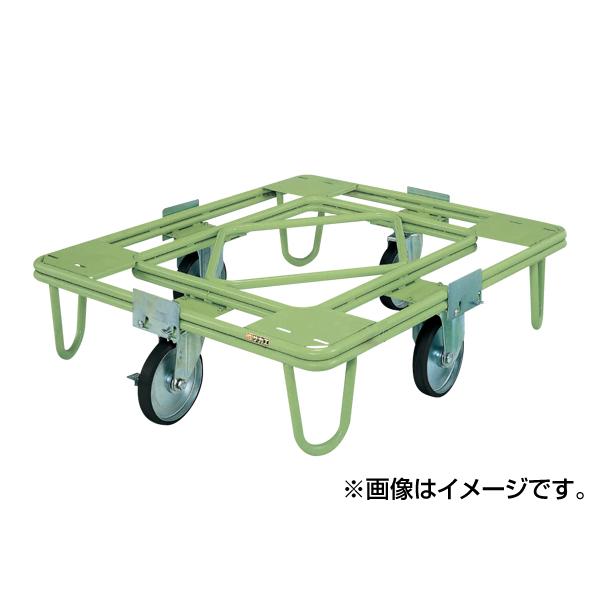 【代引不可】SAKAE(サカエ):自在移動回転台車 200φゴム車(取手なし) RE-4G