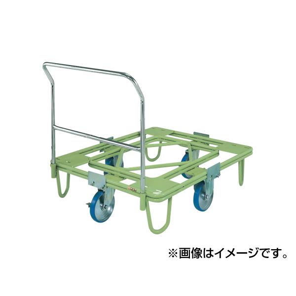 【代引不可】SAKAE(サカエ):自在移動回転台車 200φウレタン車(取手付) RE-4TUG