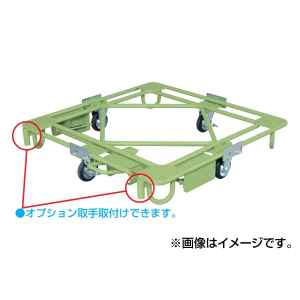 【代引不可】SAKAE(サカエ):自在移動回転台車 フットブレーキ付 RH-2FBG
