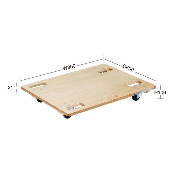 【代引不可】SAKAE(サカエ):板台車 スタッキング仕様 SD-8N