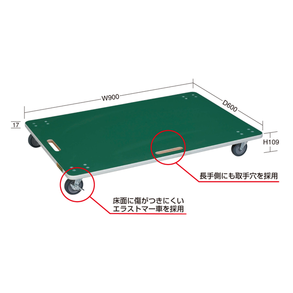 【代引不可】SAKAE(サカエ):サカエリューム張り板台車 YM-6FN