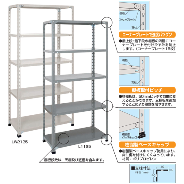 【代引不可】SAKAE(サカエ):開放型棚 LWFF9545