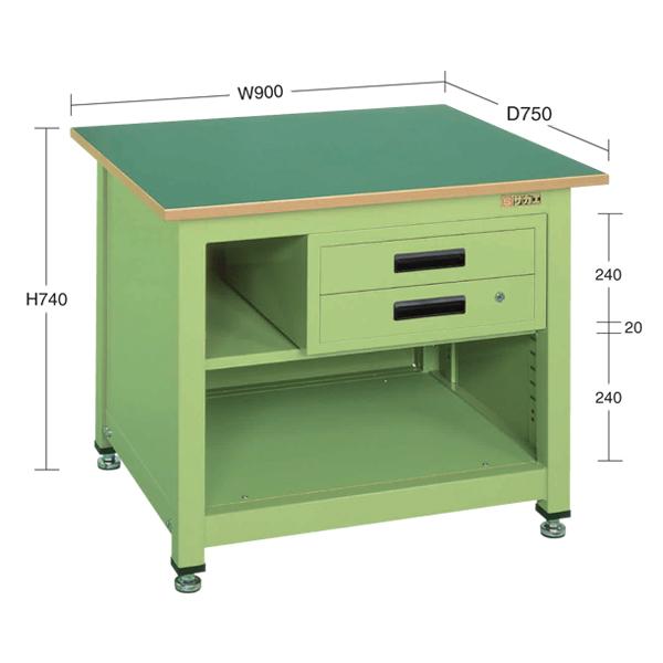SAKAE(サカエ):一人用作業台・中量固定式 KT-212N