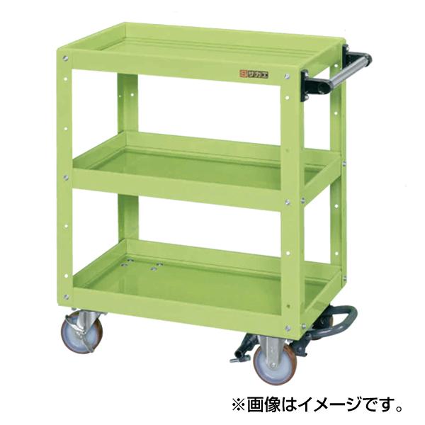 【代引不可】SAKAE(サカエ):ニューCSスーパーワゴン フットブレーキ付 CSWA-607BR