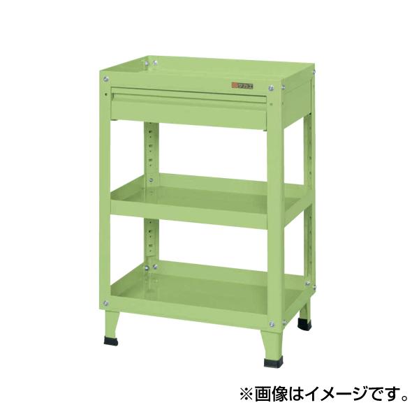 【代引不可】SAKAE(サカエ):スーパーワゴン固定タイプ(引出し付) KMN-150CI