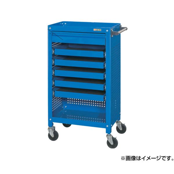【代引不可】SAKAE(サカエ):工具収納ワゴン SSW-116S6P3BL