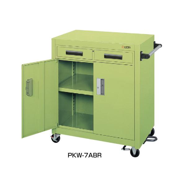 【代引不可】SAKAE(サカエ):パネルワゴン(フットブレーキ付) PKW-7ABR