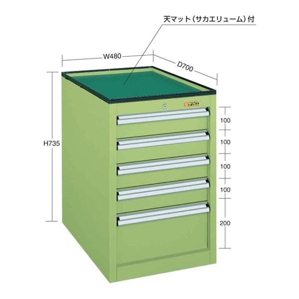 【代引不可】SAKAE(サカエ):重量キャビネットSMNタイプ SMN-5