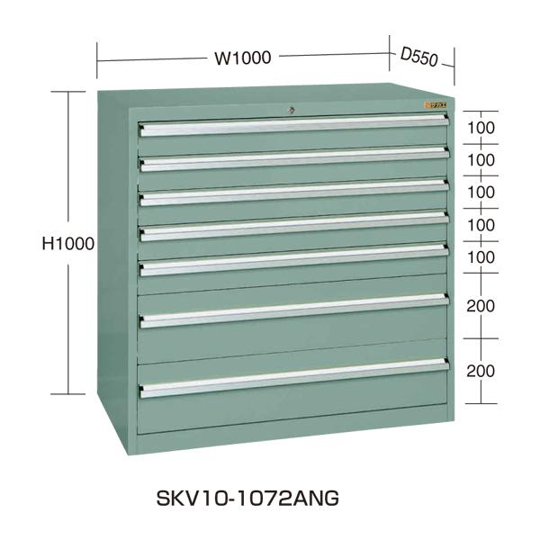 【代引不可】SAKAE(サカエ):重量キャビネットSKV10タイプ SKV10-1072ANG