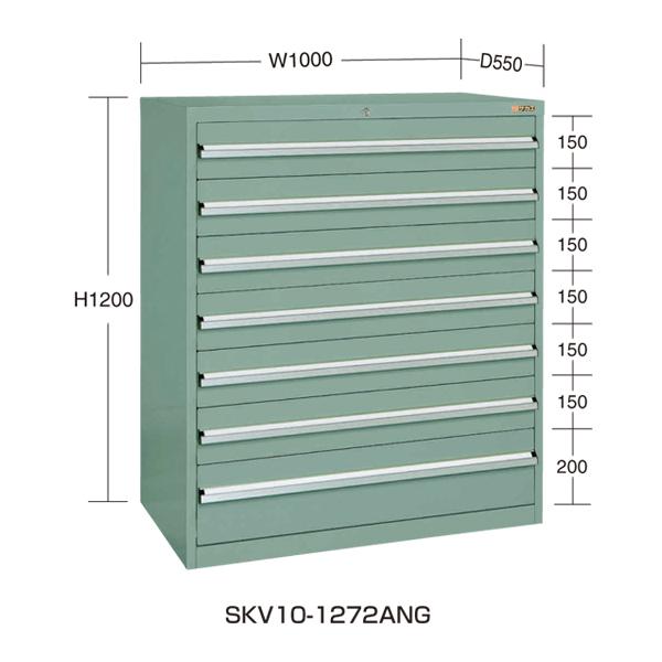 【代引不可】SAKAE(サカエ):重量キャビネットSKV10タイプ SKV10-1272ANG