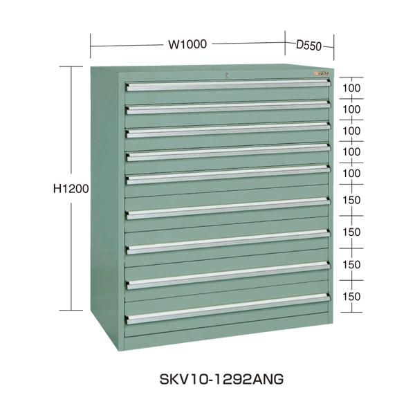 【代引不可】SAKAE(サカエ):重量キャビネットSKV10タイプ SKV10-1292ANG