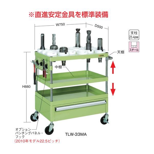 【代引不可】SAKAE(サカエ):ツーリングワゴン(ニューパールワゴン・引出し付タイプ) TLW-33MA