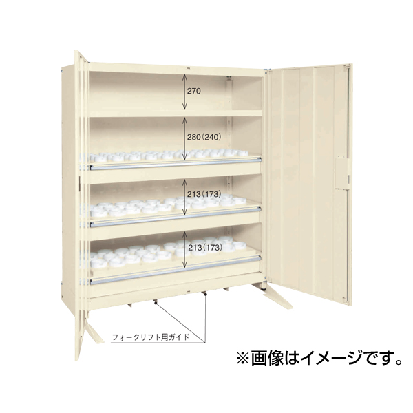 【代引不可】【受注生産品】SAKAE(サカエ):ツーリング保管庫 TLG-150A3AAF