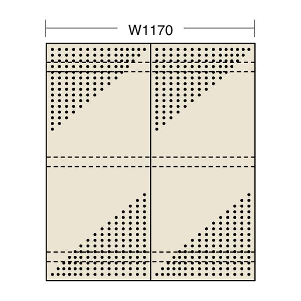 【代引不可】SAKAE(サカエ):パンチングウォールシステム PO-602HN