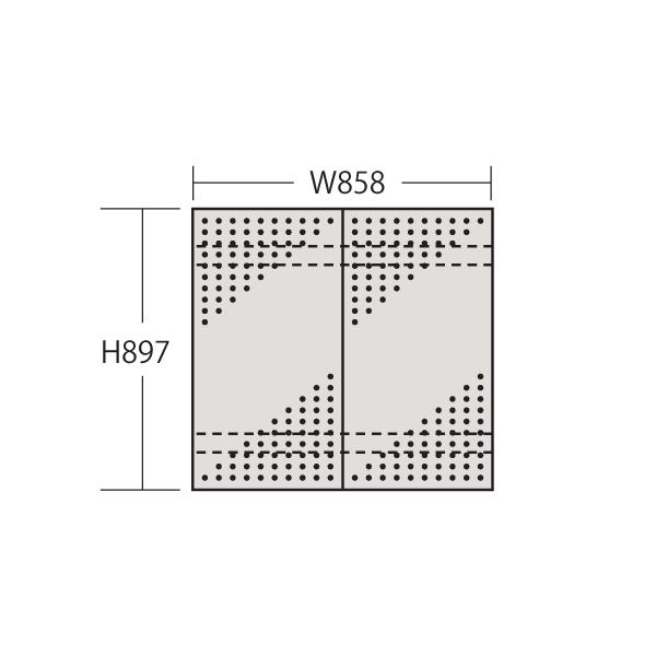 【代引不可】SAKAE(サカエ):ステンレスパンチングウォールシステム PO-452LSU