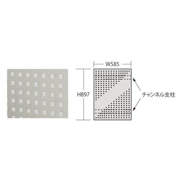 【代引不可】SAKAE(サカエ):ステンレスパンチングウォールシステム PO-601LSU