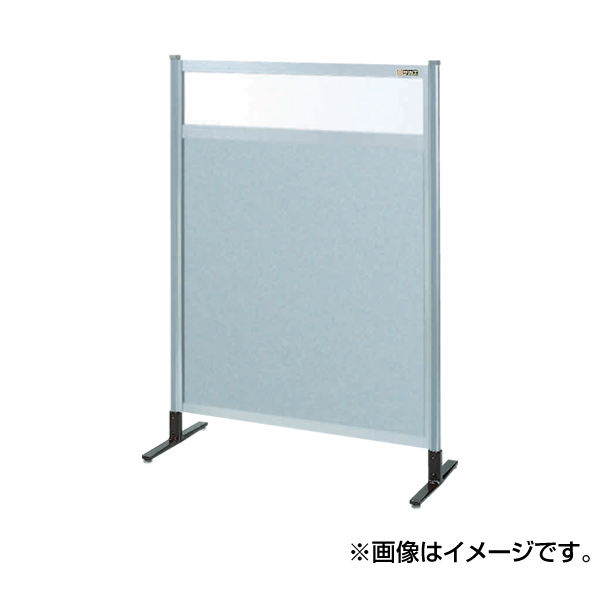 【代引不可】SAKAE(サカエ):パーティション 透明塩ビ(上) アルミ板(下)タイプ(移動式) NAE-34NC