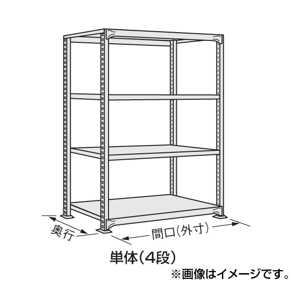 【代引不可】SAKAE(サカエ):中軽量棚NE型 NE-9124