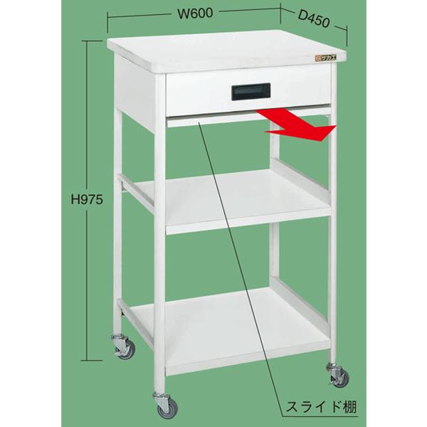 【代引不可】SAKAE(サカエ):伝票ワゴン TIC-640A