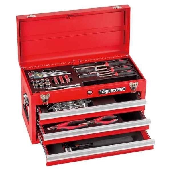 ツールセット 工具セット 4953488303834 TONE:ツールセット(ブラック)9.5sq 全38点 TSA352BK