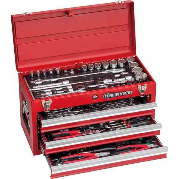 ツールセット 工具セット 4953488394016 TONE:ツールセット(ブラック)9.5sq 12.7sq 全87点 TSXT950BK