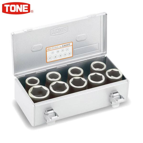 品質満点! 差込角25.4mm A809T:イチネンネット バス・トラック用 TONE(トネ):インパクト用ソケットセット(ホイルナット用)-DIY・工具
