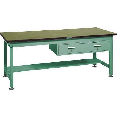 TRUSCO RHW型作業台 1800X750XH740 2列引出付(1台) RHW1800FL2 2782081