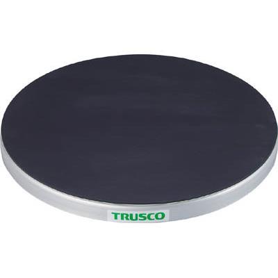 TRUSCO 回転台 50Kg型 Φ400 ゴムマット張り天板(1台) TC4005G 3304434