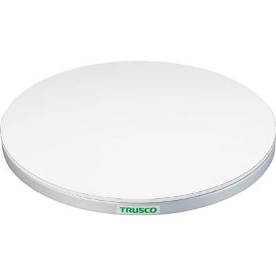 TRUSCO 回転台 50Kg型 Φ400 ポリ化粧天板(1台) TC4005W 3304442