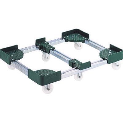 TRUSCO 伸縮式コンテナ台車 内寸400-500X900-1000スチール製(1台) FCD64090 3379833