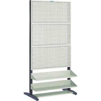 【代引不可】TRUSCO UPR型パンチングラック 棚板付 両面(1台) UPR6004 5015600